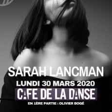 Visuel Concert Sarah Lancman 30.03.2020 Cafe de la Danse